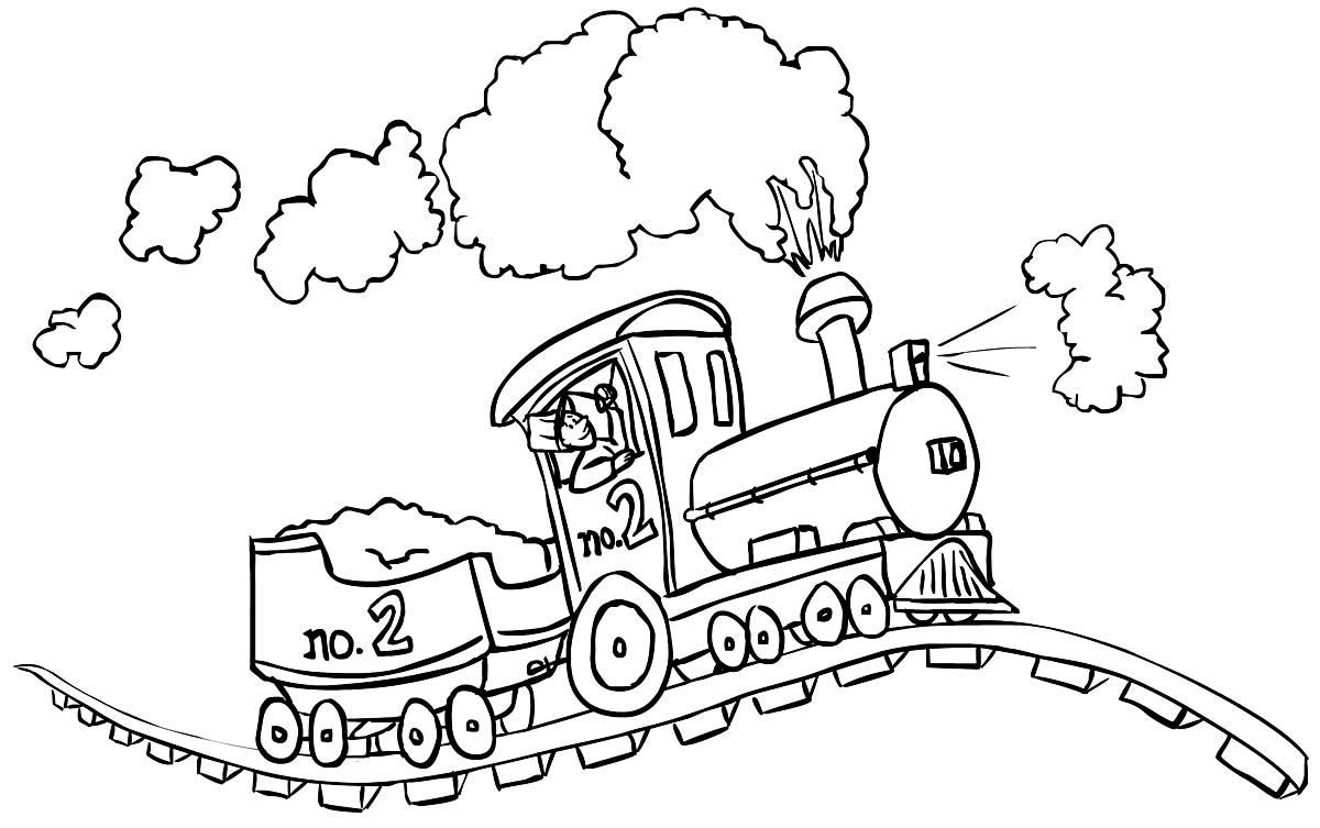 Desenho de Trem para colorir