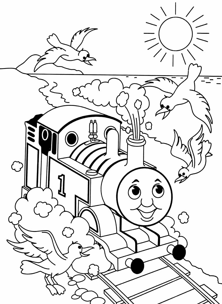 Desenho de trenzinho para colorir