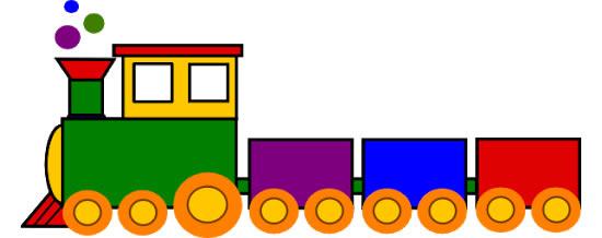 Desenho colorido de trenzinho