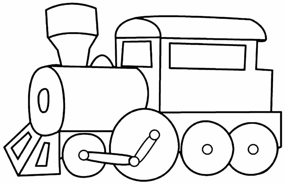Imagem de trenzinho para colorir