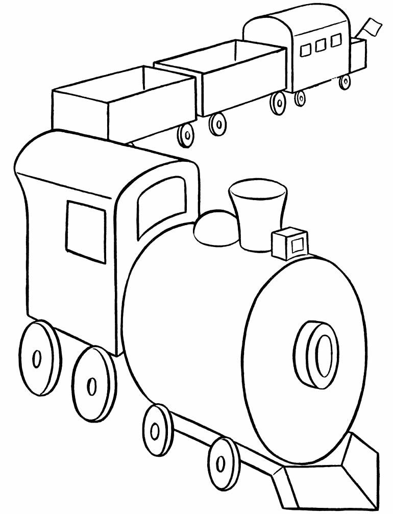 Desenho de trenzinho para pintar