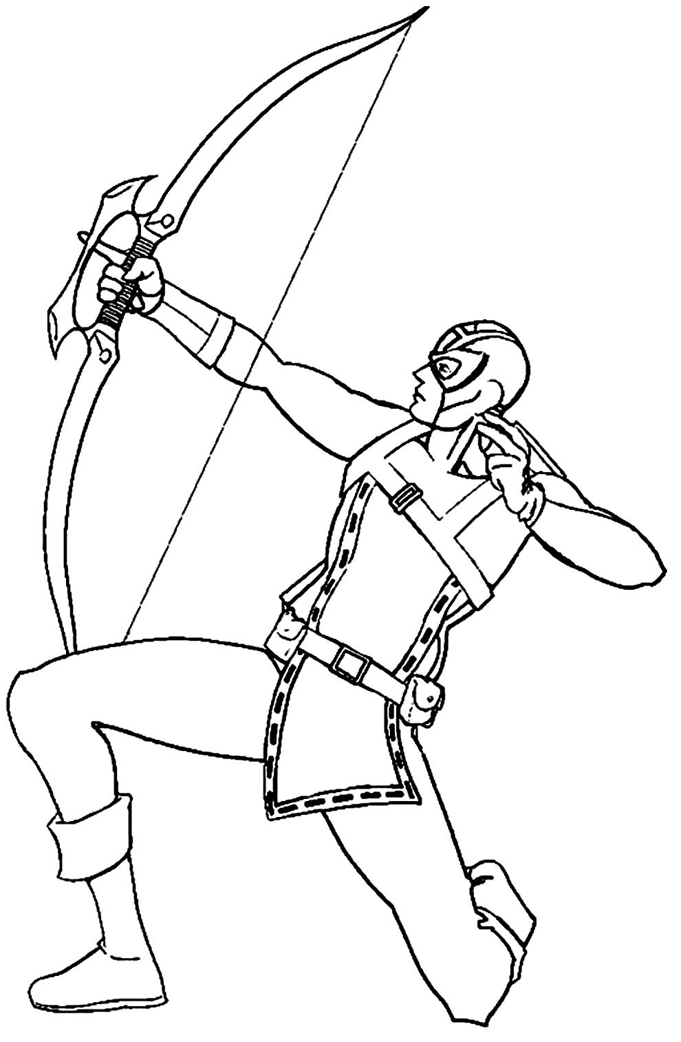 Desenho do Gavião Arqueiro para colorir