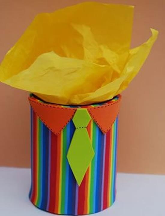 Porta-treco com lata para Dia dos Pais