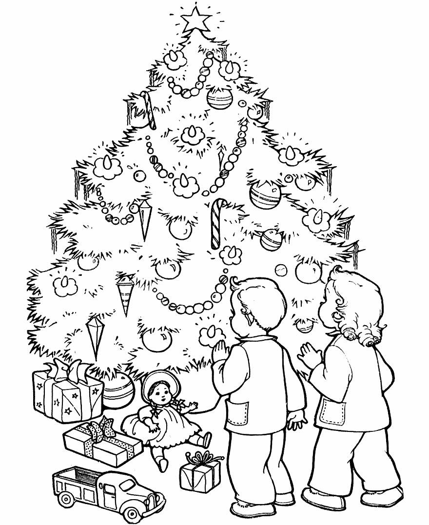 Risco de Árvore de Natal para colorir