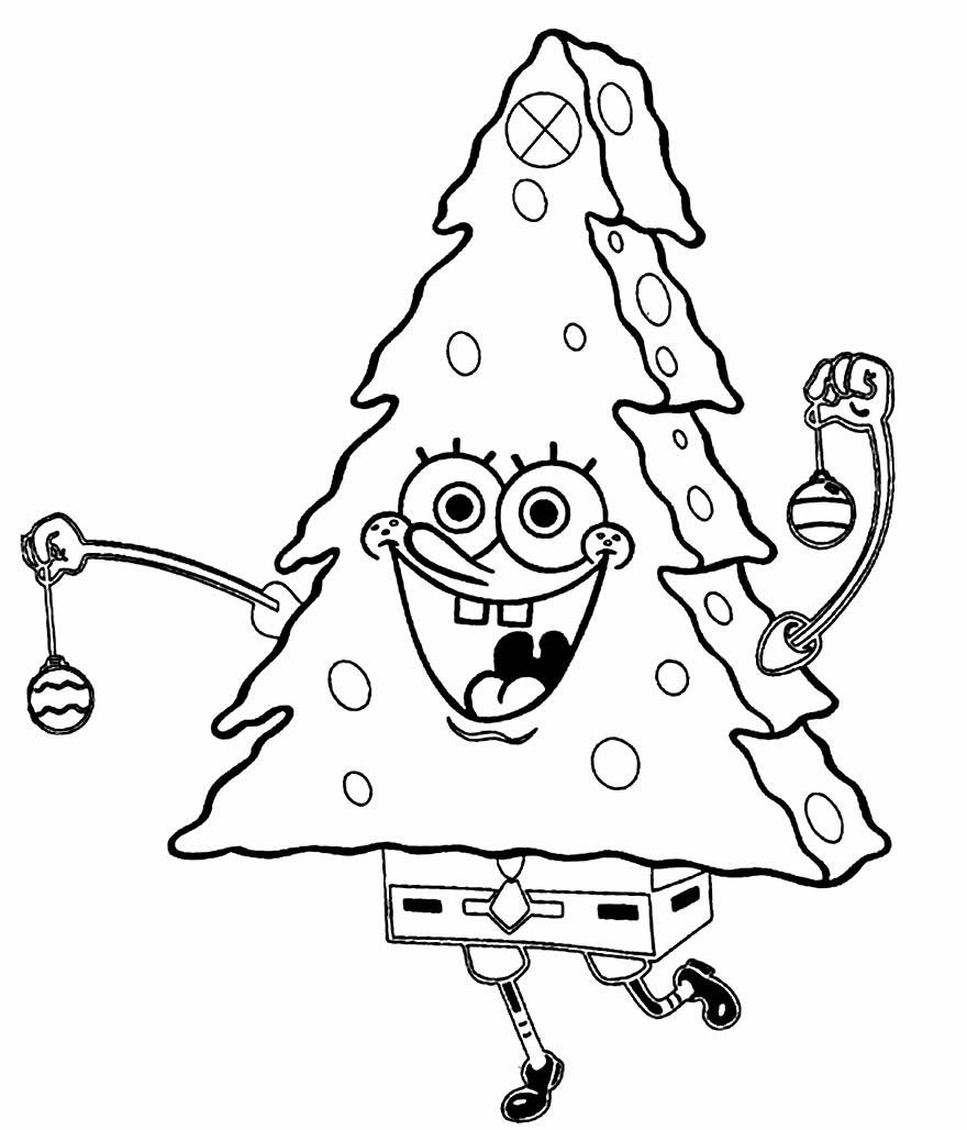 Desenho do Bob Esponja Árvore de Natal