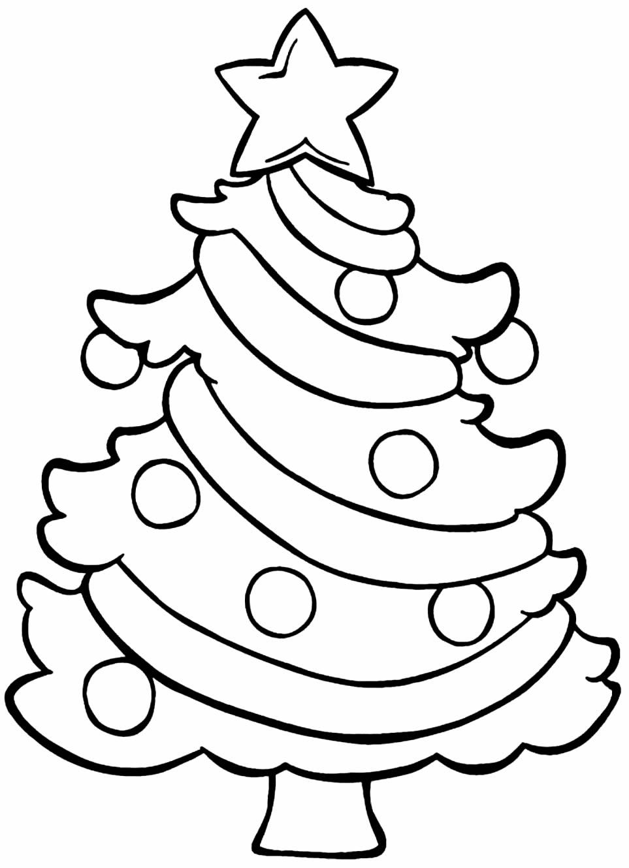 Desenho de Árvore de Natal para imprimir e colorir