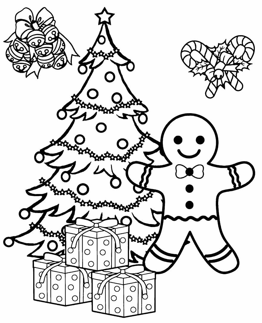 Imagem de Árvore de Natal para imprimir e pintar