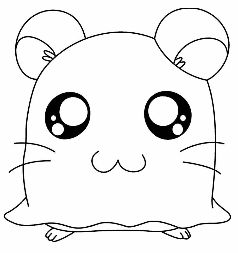 Desenho para pintar do Hamtaro