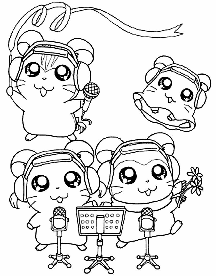 Desenho para colorir do Hamtaro