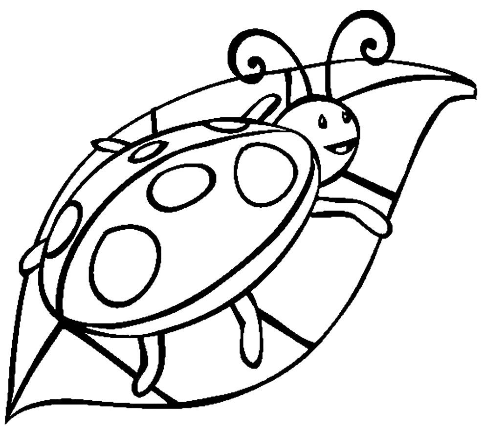 Desenho de Joaninha para colorir