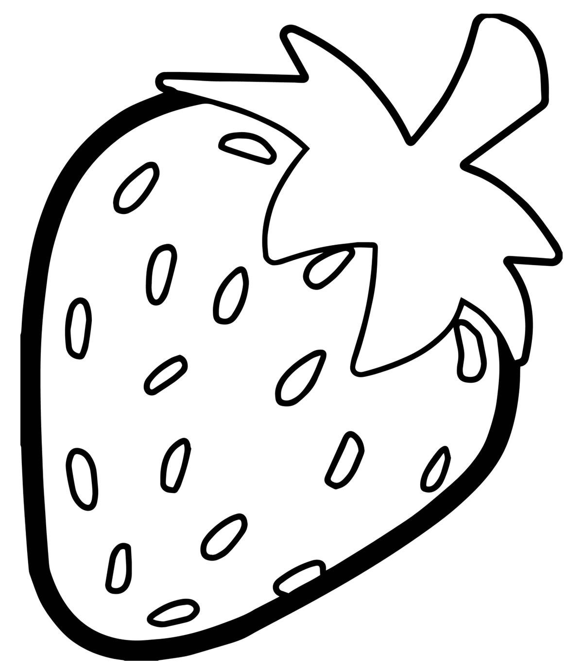 Desenho de Morango para pintar