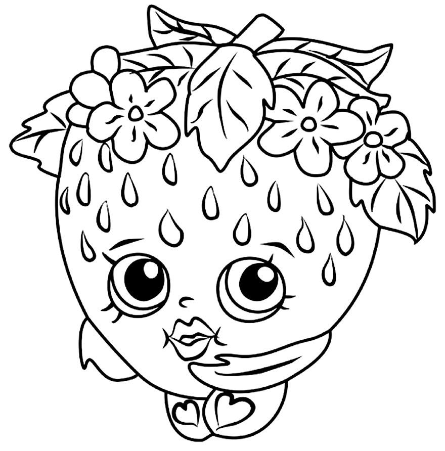 Imagem de Morango para colorir