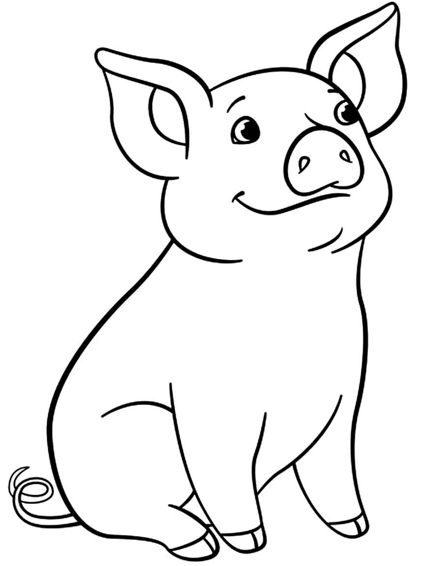 Molde de porquinho para imprimir