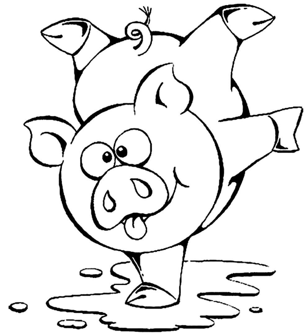 Desenho de Porquinho para píntar