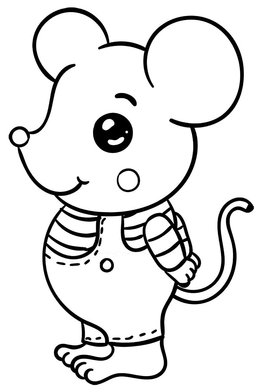 Desenho de rato e ratinho para colorir