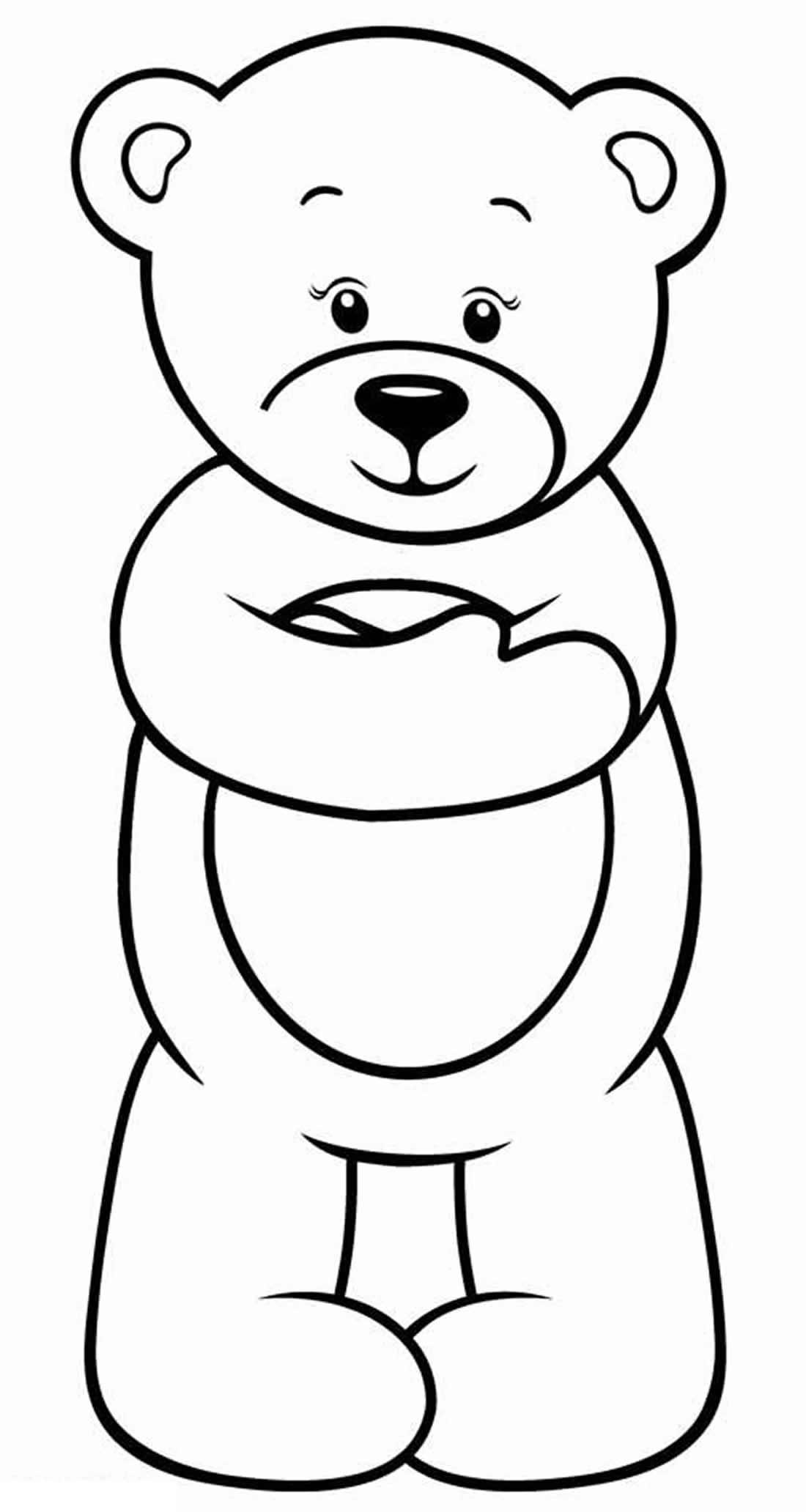 Desenhos de Ursinho para pintar