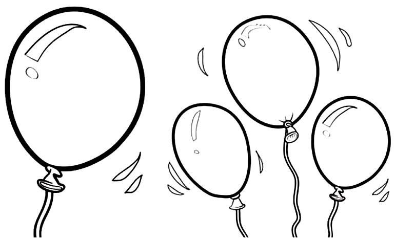 Imagem de Balões para pintar