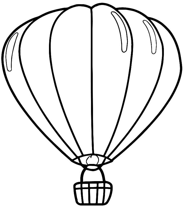 Imagem de Balão para colorir