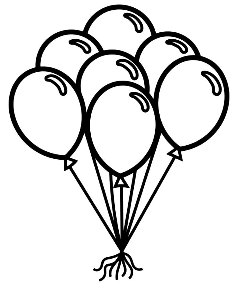 Desenho de Balões para colorir
