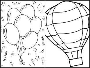 Desenhos de Balões para colorir