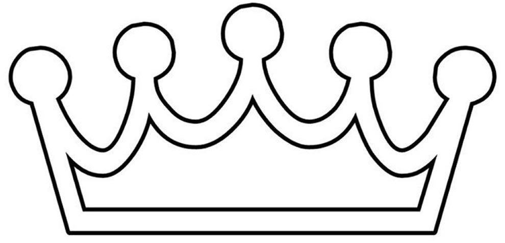 Desenho de Coroa para colorir