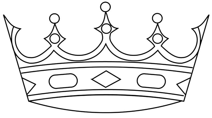 Imagem de Coroa para colorir