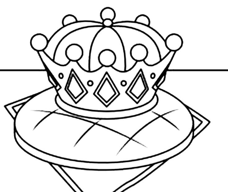 Desenho de Coroa para pintar