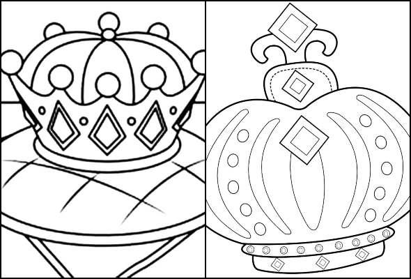 Desenhos de Coroa para colorir