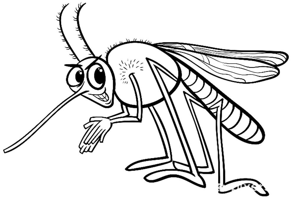 Desenho de mosquito para colorir