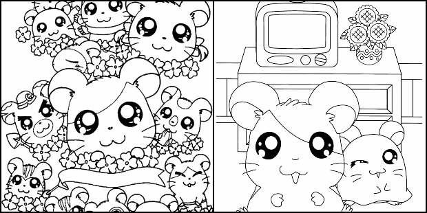 Desenhos do Hamtaro para colorir