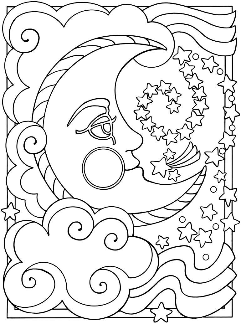 Desenho da Lua para colorir
