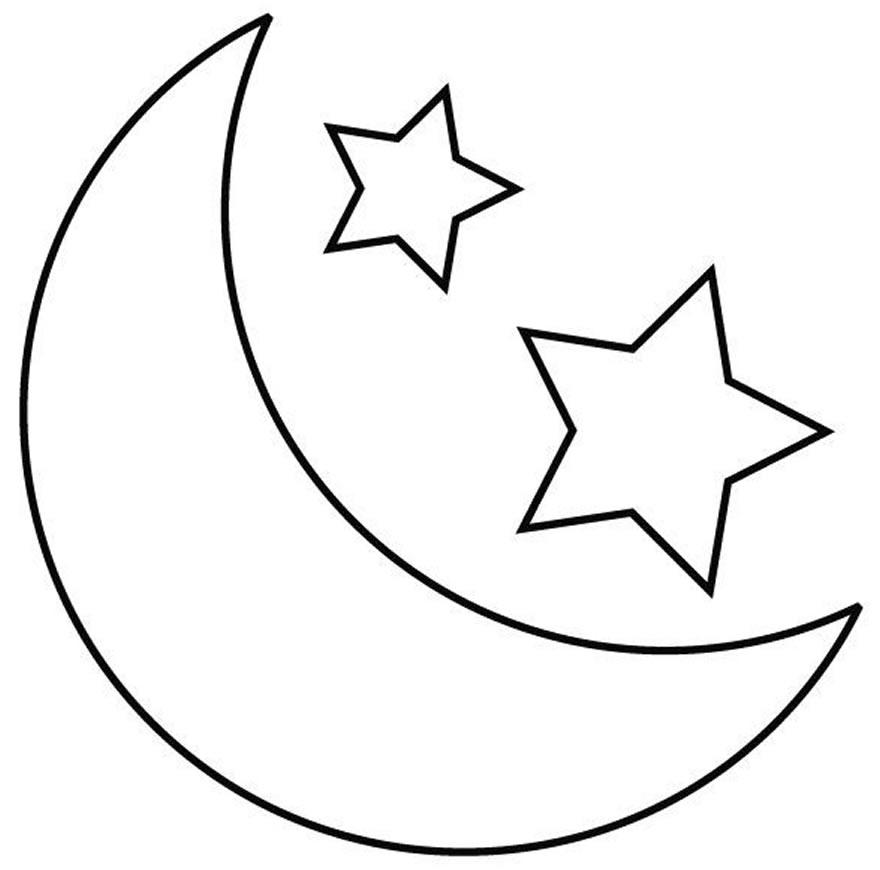 Imagem de Lua para colorir
