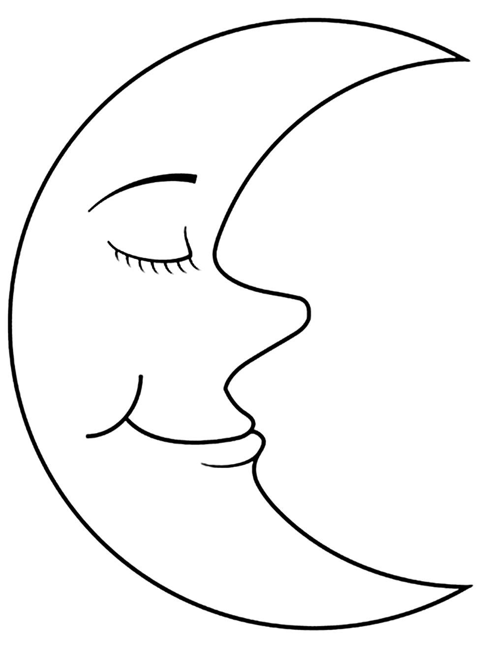 Imagem de Lua para pintar