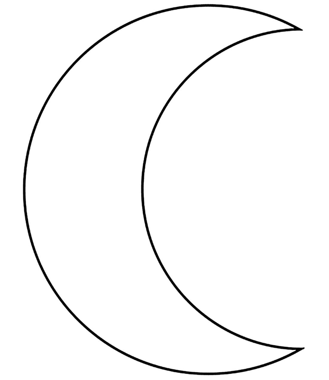 Molde de Lua para imprimir