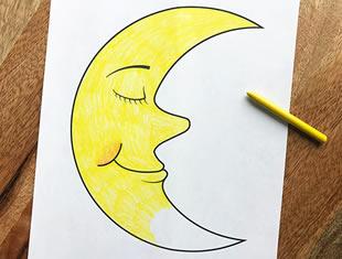 Desenhos de Lua para colorir