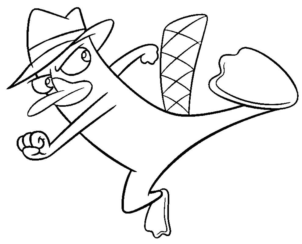 Desenho de Perry o Ornitorrinco