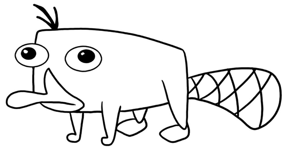 Desenho de Perry o Ornitorrinco para colorir