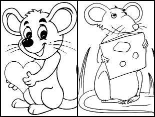 Desenhos de Ratinho para colorir