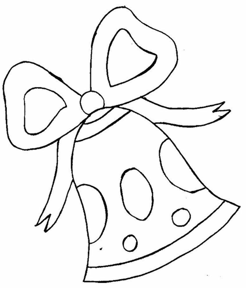 Desenho de Sino de Natal para pintar
