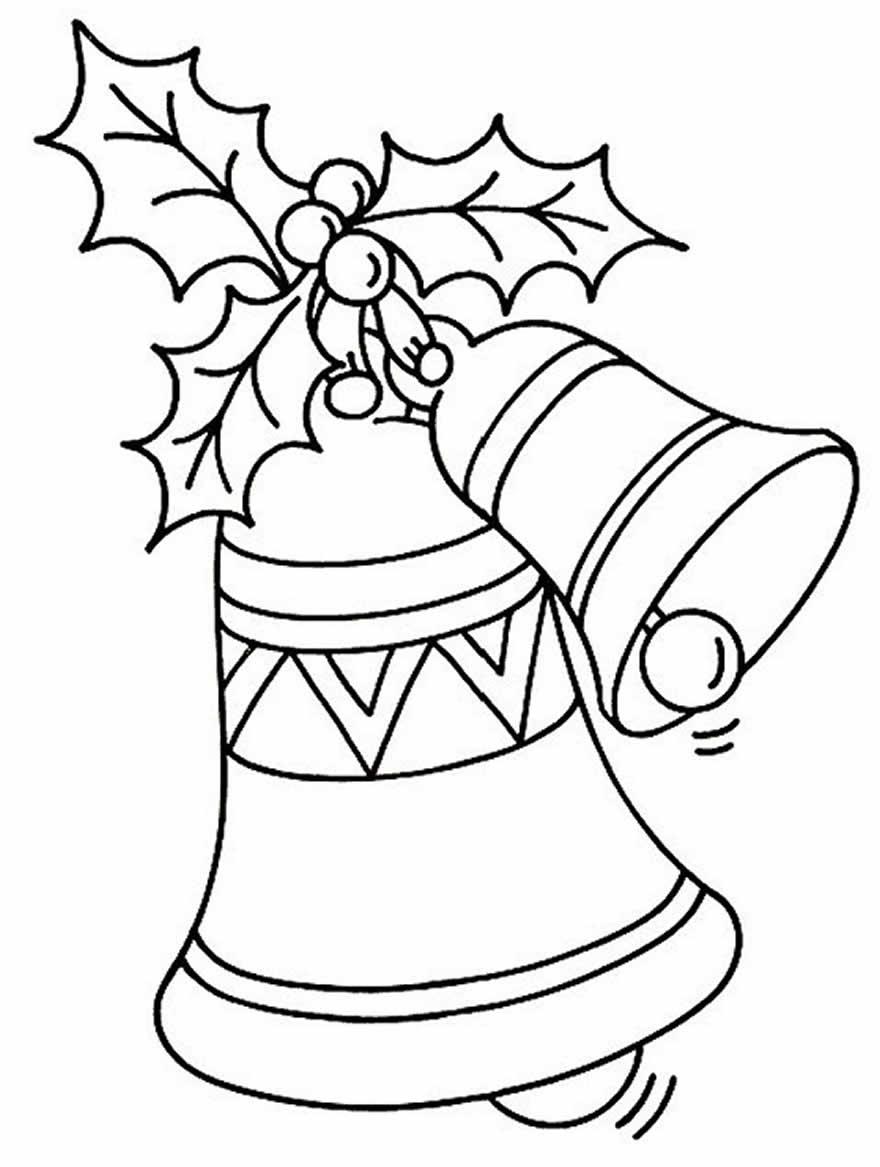 Desenho de Sinos de Natal para colorir