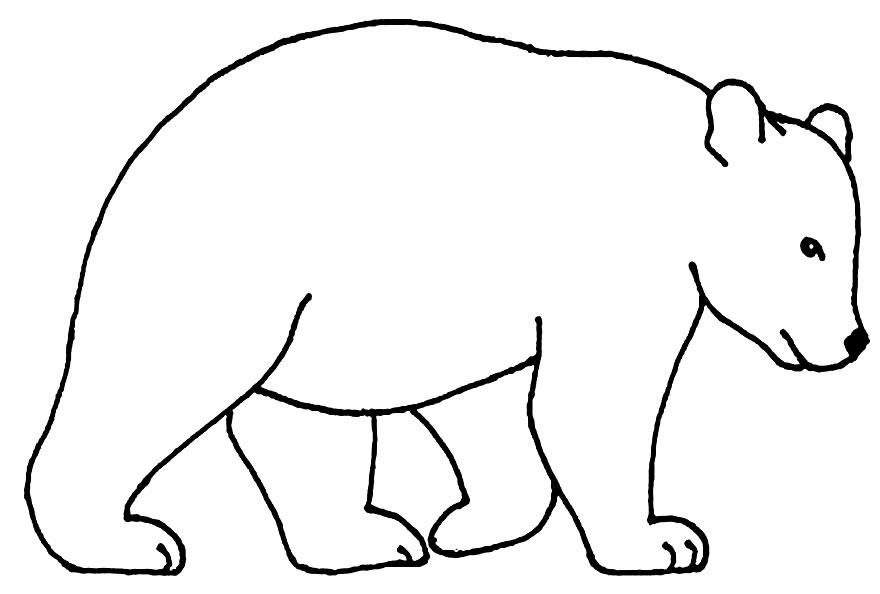 Imagem de Urso para colorir