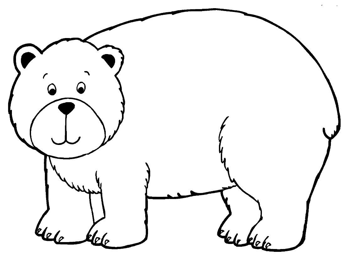 Imagem de Urso para pintar