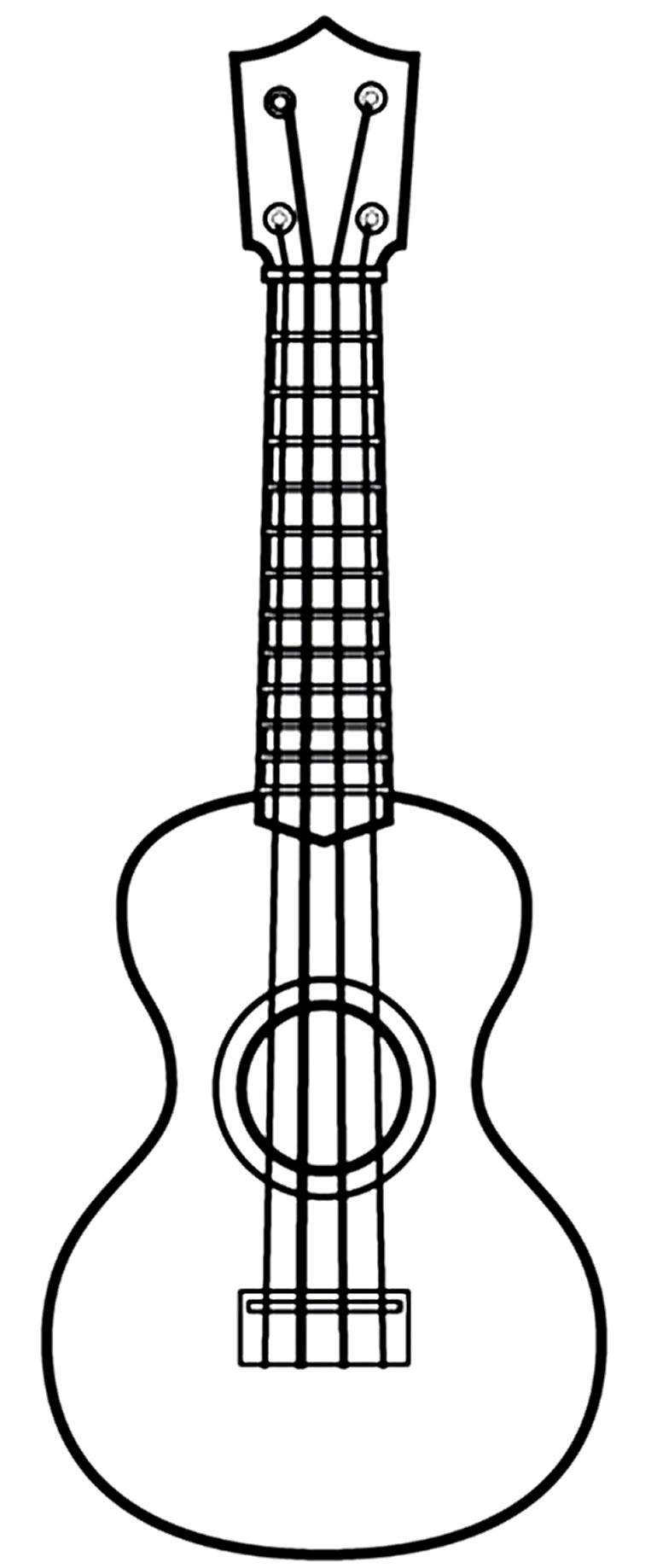 Molde de Violão para imprimir