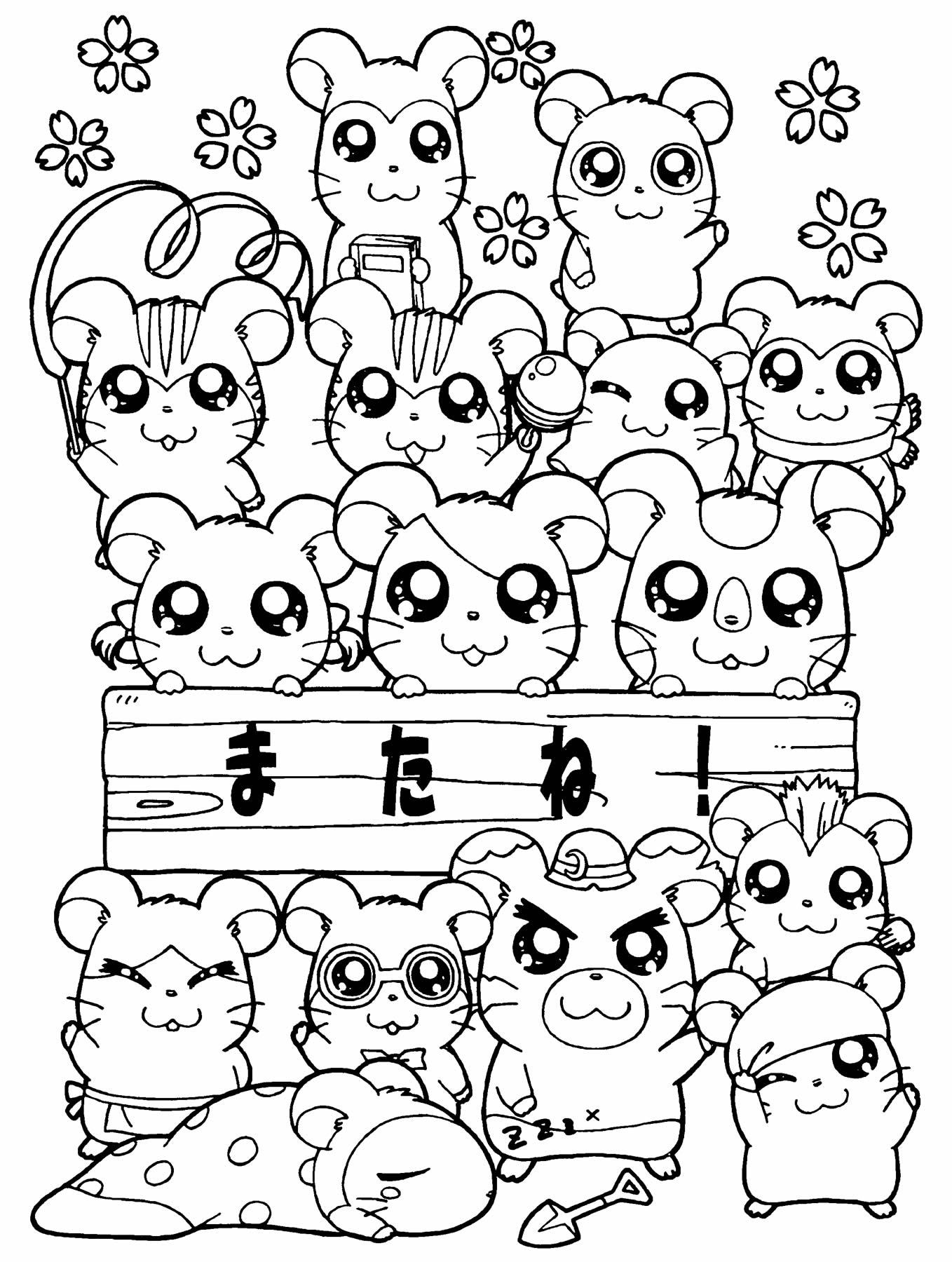 Imagens do Hamtaro para colorir