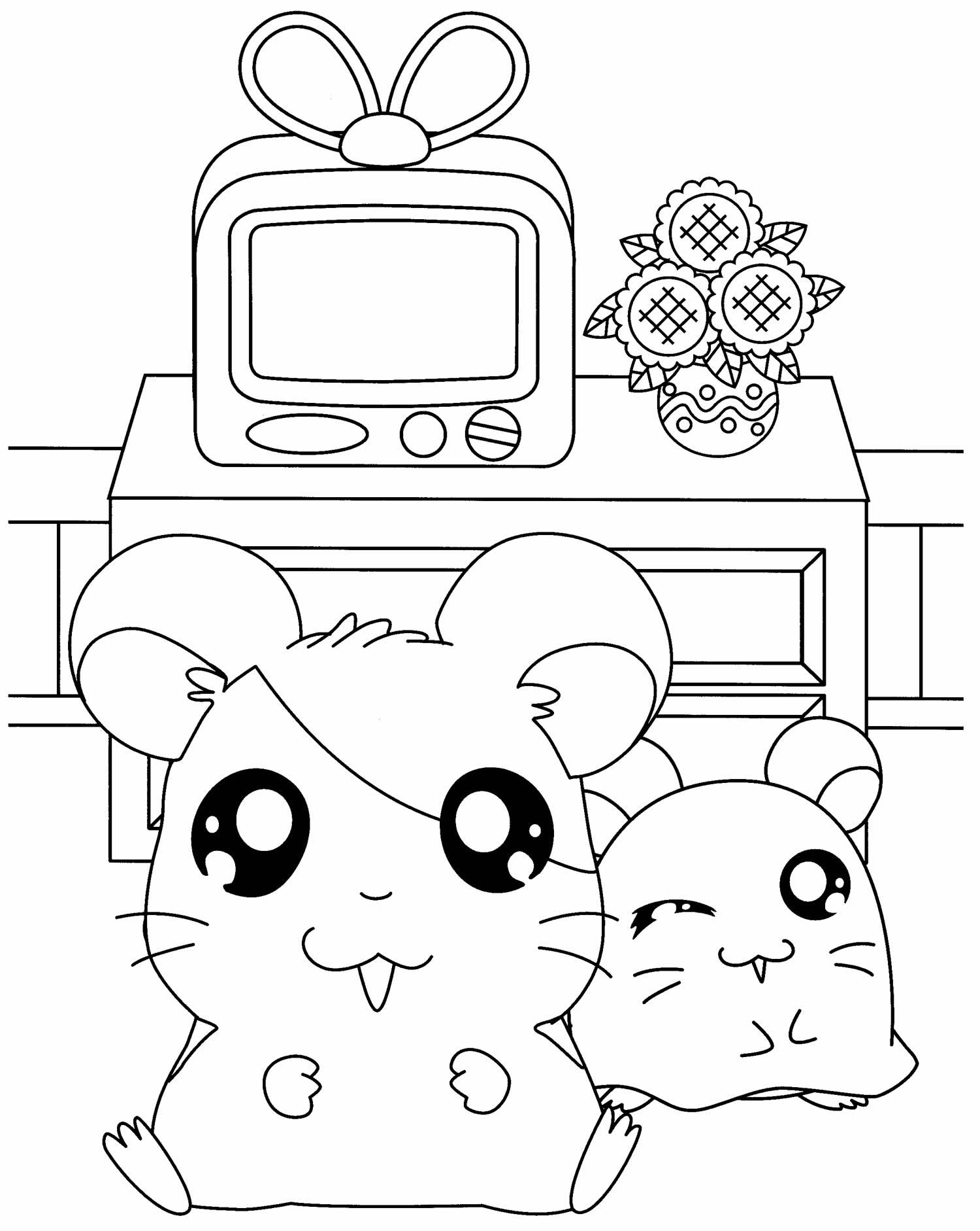 Desenho do Hamtaro para pintar