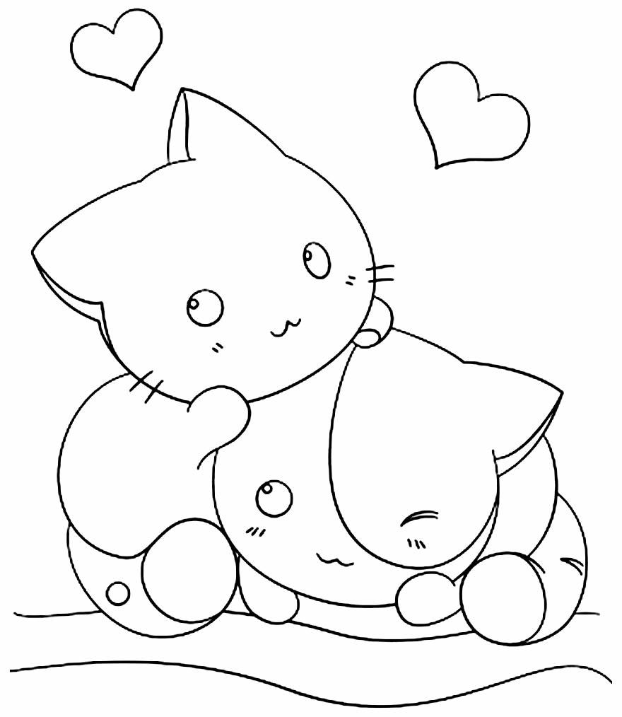Desenho Kawaii para colorir