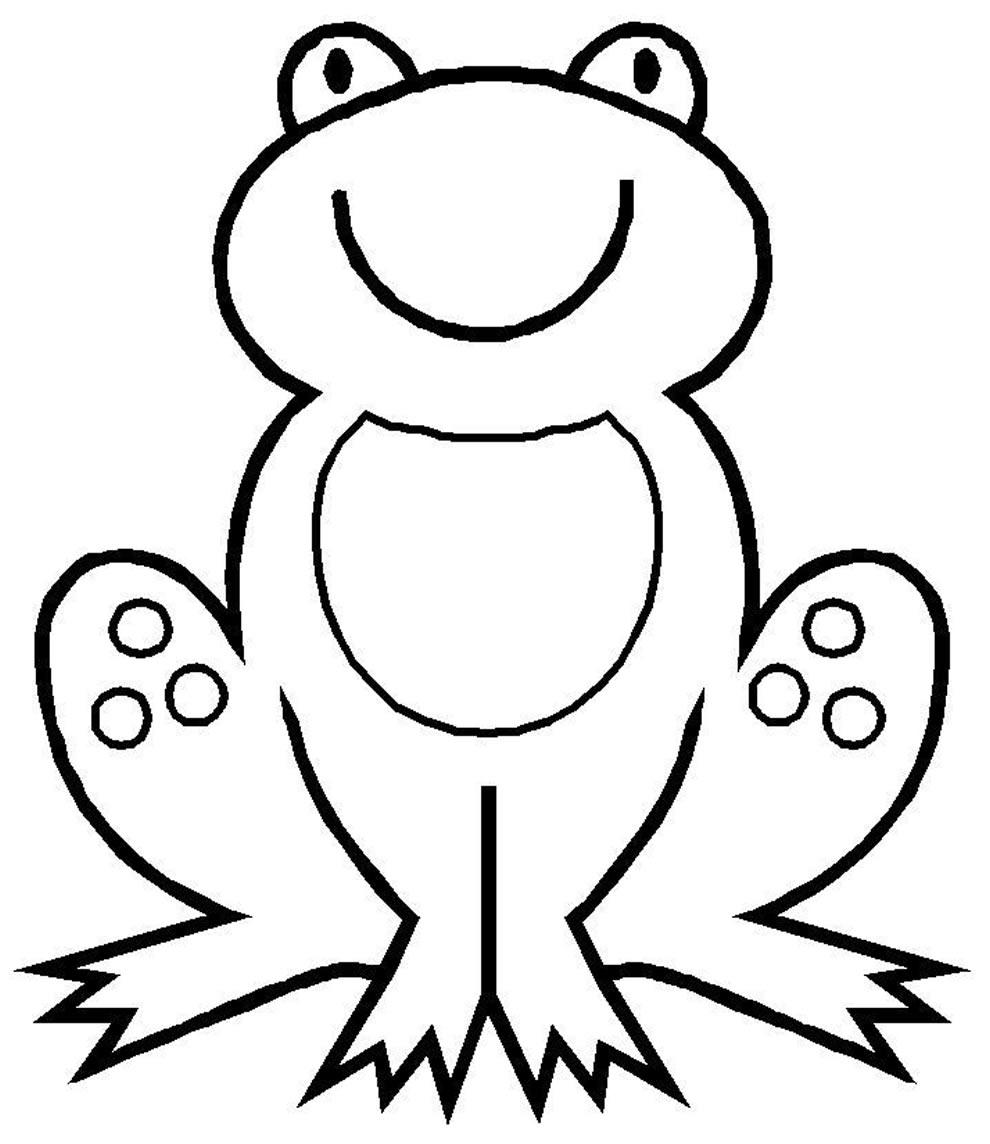 Desenho de Sapo para colorir