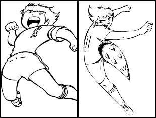 Desenhos dos Super Campeões para colorir