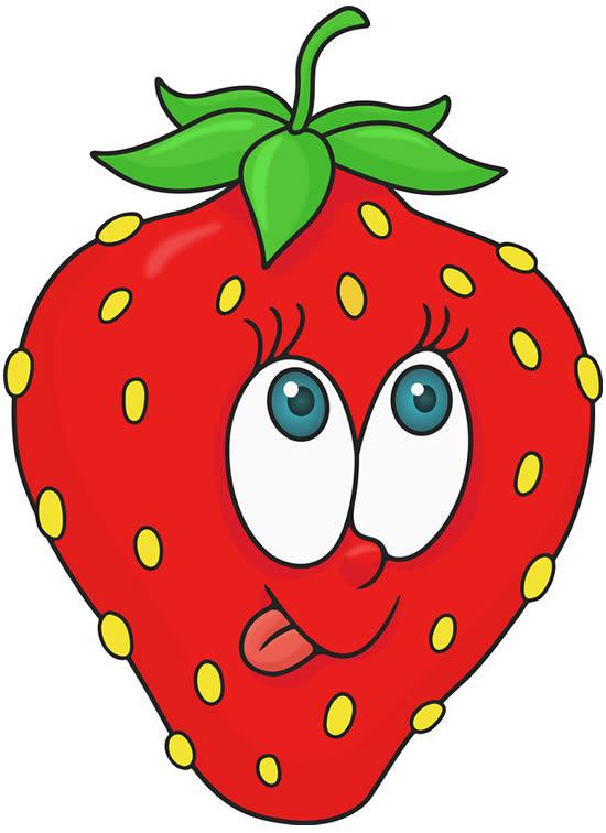 Desenho divertido de morango