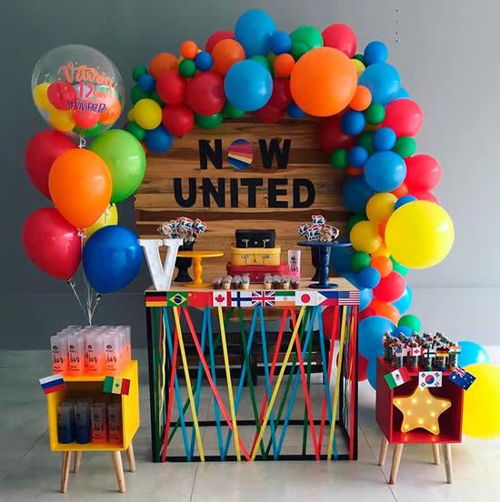 Decoração de Festa Now United